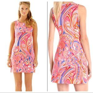 Lilly Pulitzer New Whiting Dress Reef Retreat SZ L